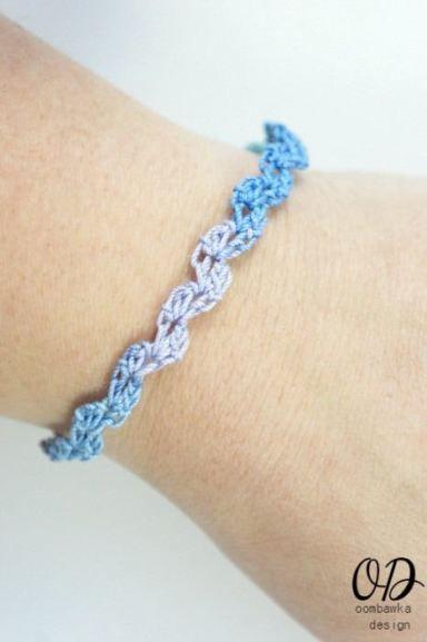 Ocean Waves Summer Bracelet Free Crochet Pattern - #diy #crafts