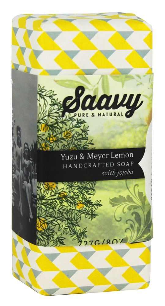 The scent! The oooo! The ahhh! Saavy Naturals - Jojoba Handcrafted Soap Yuzu & Meyer Lemon - 8 oz. at LuckyVitamin.com