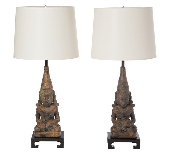 Asian inspired James Mont Table Lamps