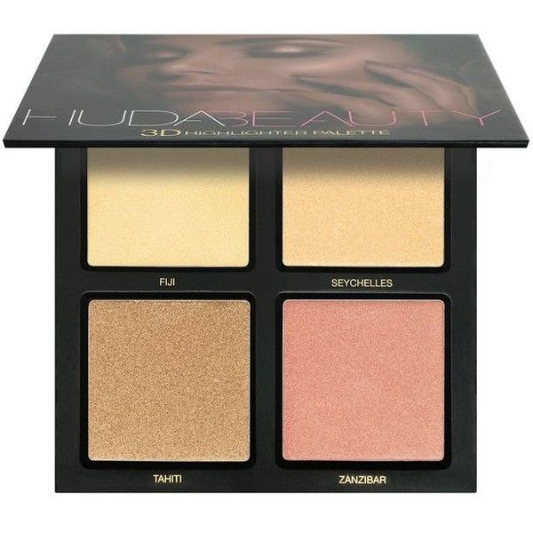 Huda Beauty 3D Highlight Palette (€45) ❤ liked on Polyvore featuring beauty products, makeup, face makeup, highlight makeup, huda beauty, highlight face makeup, huda beauty makeup and palette makeup