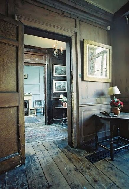 [heart]: Distressed Wood, Victorian Farmhouse, Weather Wood, Wall Panels, Old Wood, Old Houses, World Of Interiors, Wood Wood, Rustic Wood