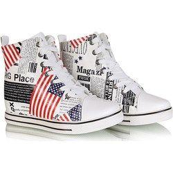 Kolorowe botki sneakersy /F1-2 W138 Sel3x8/