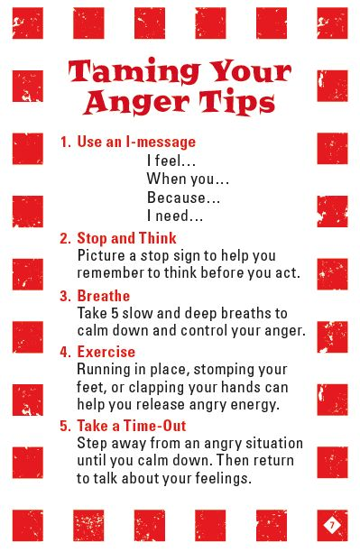 Taming Your Anger Tips