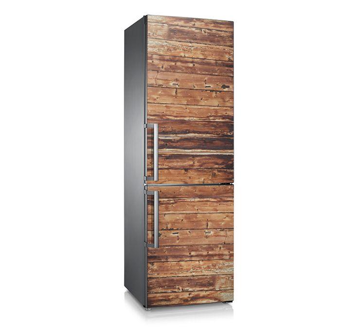"Vinilo para frigorífico ""Wood"" decora tu Hogar."