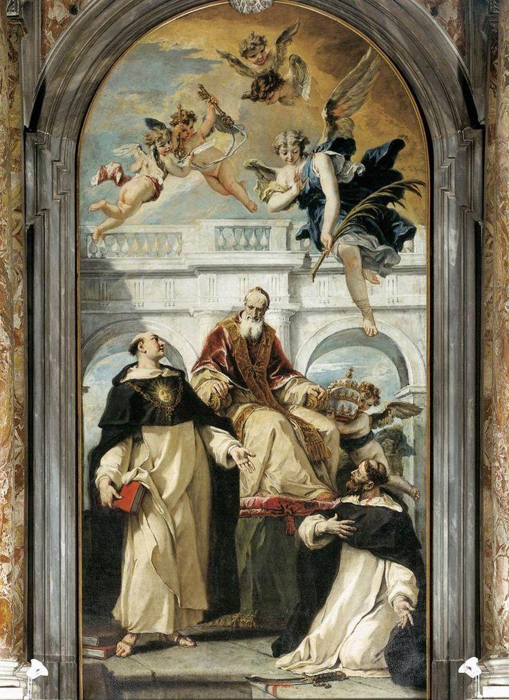 Άγιος Πίου, Άγιος Θωμάς του Ακινάτη και Άγιος Πέτρος ο Μάρτυρας (1730-33)  Παναγία του Ροζάριο στη Βενετία