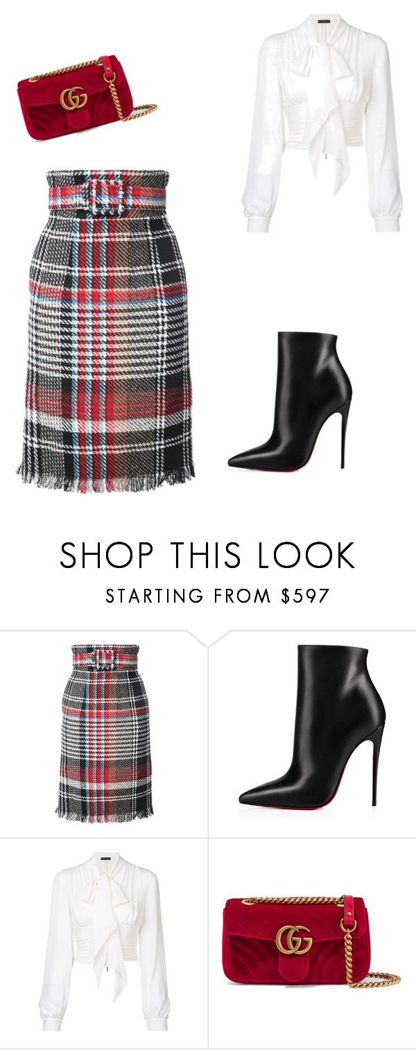 """""""First Day Of Work"""" by girly2girls on Polyvore featuring Oscar de la Renta, Christian Louboutin, Plein Sud and Gucci"""