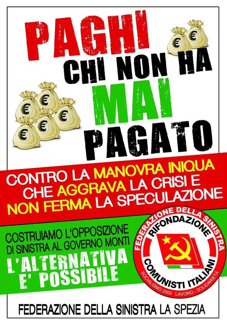 Manifesto contro manovra Monti  Febbraio 2012