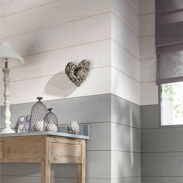 Lambris Louisiane  -  Blanc et gris perlé - Lapeyre