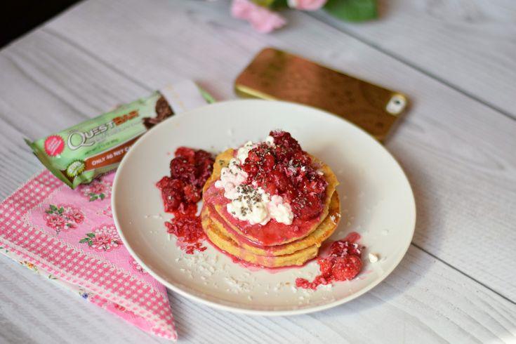Gesunde Protein Pancakes, Gesunde amerikanische Pancakes, 3 Zutaten