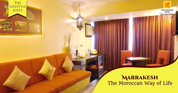 The images of the bustling souk, the gilded metalwork lantern, the ruby red sheesha, the motif of the hand glazed geometric mosaic tile are all legendary and they find their way into our exotic representation of the city of Marrakesh. Our Lifestyle Suite by the same simple name is a design crossroad where the medieval East meets the modern West.