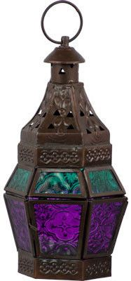 Guide - Turquoise and Purple - Candle Holder