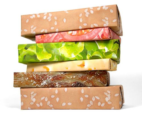 Gift Couture Hilarious Hamburger Wrapping Paper - Design Milk