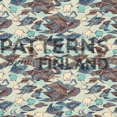 Polar by Kahandi Design   #patternsfromfinland #kahandidesign #pattern #surfacedesign #finnishdesign