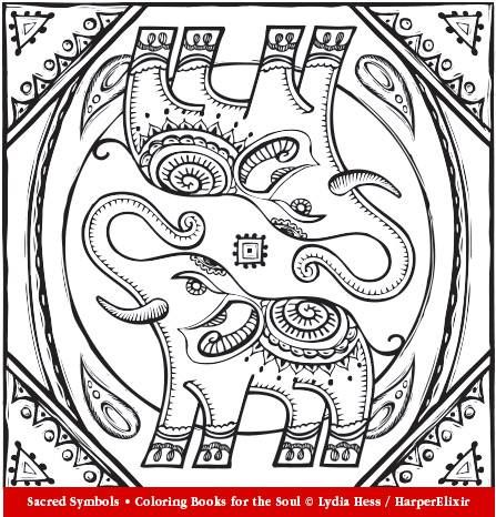 10 images about animals to color on pinterest coloring Sacred animals coloring book