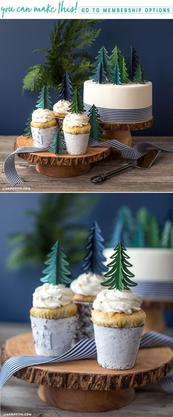 Simple DIY Paper Tree Cake Toppers for Your Birthday Celebration - Lia Griffith - www.liagriffith.com #caketopper #paper #paperart #diyparty #madewithlia