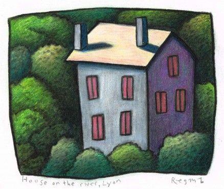 House on The River, Lyon by Reg Mombassa