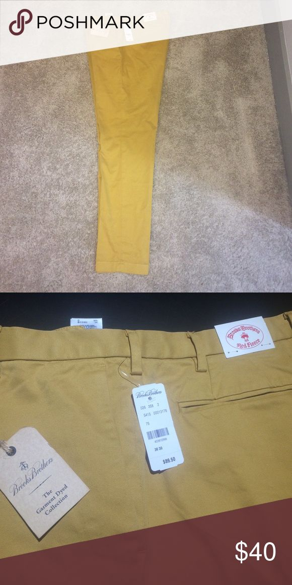 Brooks Brother Gold Pants Never been worn, tags still on!Brooks Brother Gold Pants, The Garment Dyed Collection/Red Fleece Brooks Brothers Pants Chinos & Khakis