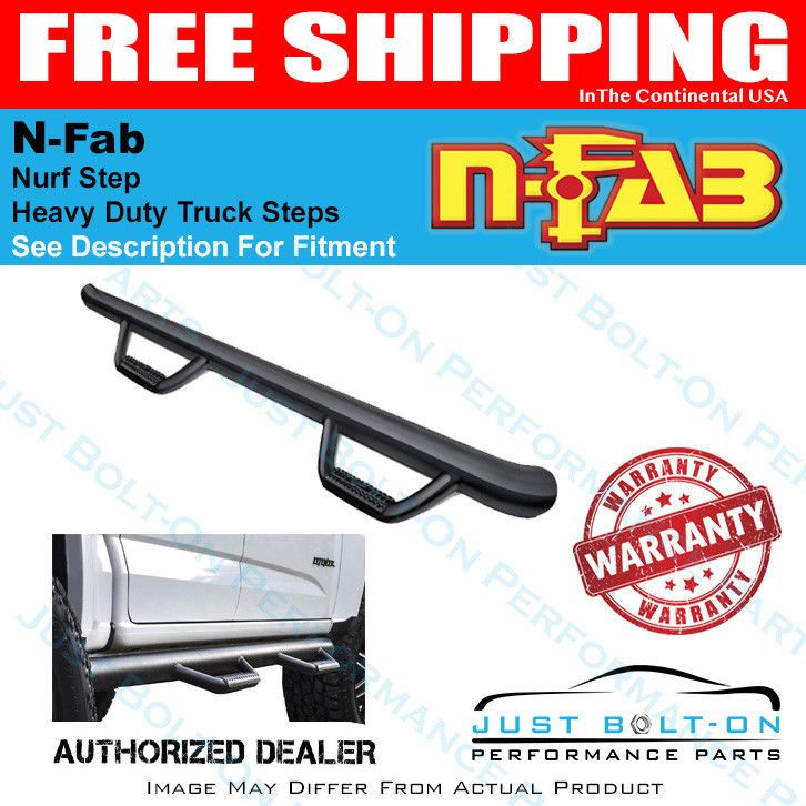 N-Fab Nerf Step 14-18 GM 1500 CC 5.7ft Bed Gloss Black Bed Access 3in #C1495CC-6 #topratedseller