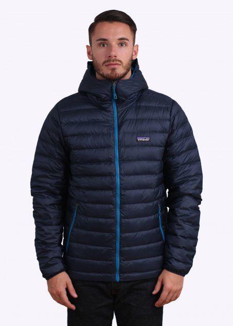 Patagonia Down Sweater Hoody Jacket - Navy Blue
