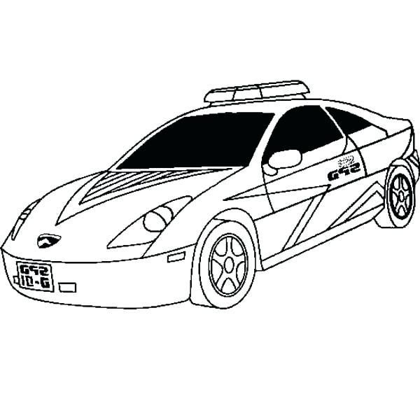 Lamborghini Cop Car Coloring Pages Printable 6 10 Kaartenstemp Nl
