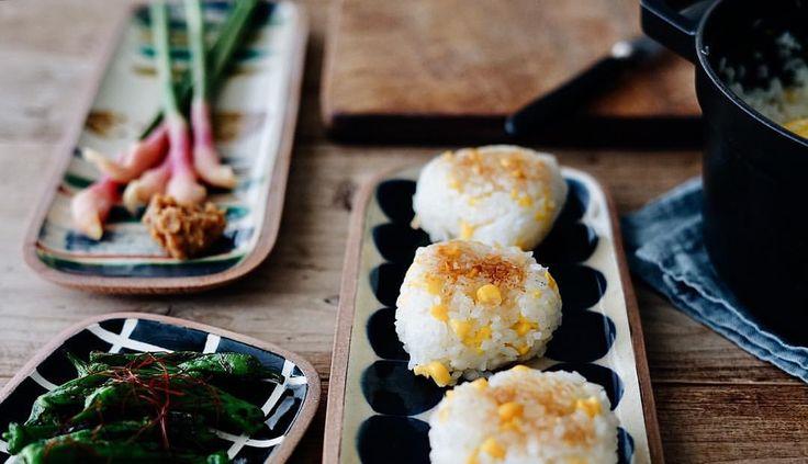・ こんばんは! 一翠窯高畑伸也さんのうつわを入荷しました✨ 食卓が楽しくなる沖縄やちむんです。 ・ プロフィール欄のURLよりぜひご覧ください☺️ ・ 今朝は、とうもろこしご飯の焼きおにぎりと 谷中生姜の甘酢漬け、ししとう出汁醤油炒めなど。 夏野菜がうれしい季節♫ ごちそうさまでした😋 ・ ・ ・ #一翠窯#高畑伸也#やちむん#和食#朝ごはん#食卓#テーブルフォト#おにぎり#焼きおにぎり#とうもろこしご飯#谷中生姜#うつわ#器#和食器#onthetable#instagramjapan#igersjp#washoku#onigiri#breakfast