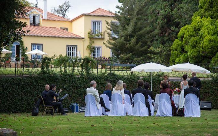 Small intimate ceremony in the gardens of Casa Velha do Palheiro http://www.yourmadeirawedding.com/directory/casa-velha-do-palheiro