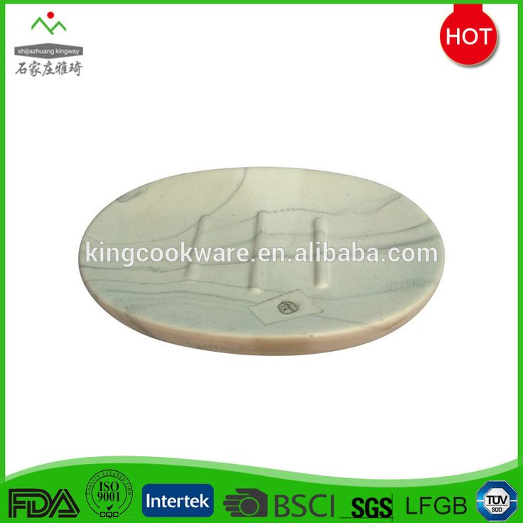 Hot-selling Hand Made White Oval Soap Box In Marble