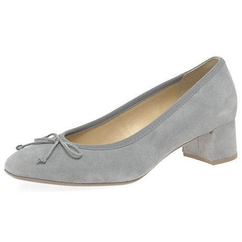 Buy Gabor Belfast Extra Wide Fit Block Heeled Court Shoes Online at johnlewis.com