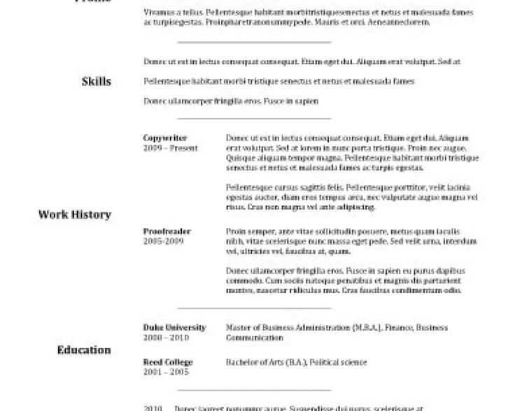 Oltre 25 fantastiche idee su Free resume samples su Pinterest - occupational therapy sample resume