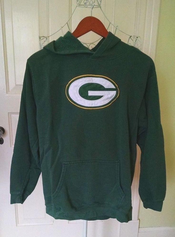 Boys Sz XL Green Bay Packers  Hoodie Sweatshirt Pullover Reebok NFL Team #Reebok #GreenBayPackers