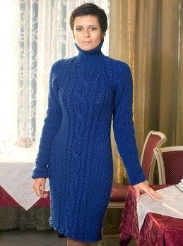 Kleid mit Zopfmuster #Strickanleitung Größe: 40/42. http://strick-anleitung.com/stricken-mit-strickanleitung/kleid-mit-zopfmuster-42.html