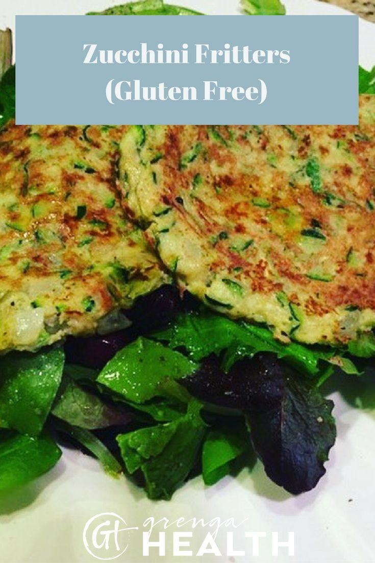 zucchini fritters recipe, gluten free zucchini fritters recipe, easy zucchini fritters, healthy zucchini fritters, healthy zucchini recipes via /grengahealth/