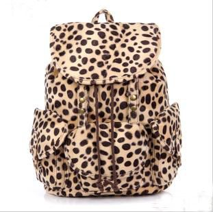 $37.99 USD  [grlhx120002]Cool Leopard Fashion Backpack Bag  DSku:grlhx120002  1.Fashion and Cool Style.  2.Size:32*38*14cm,Soft Material.