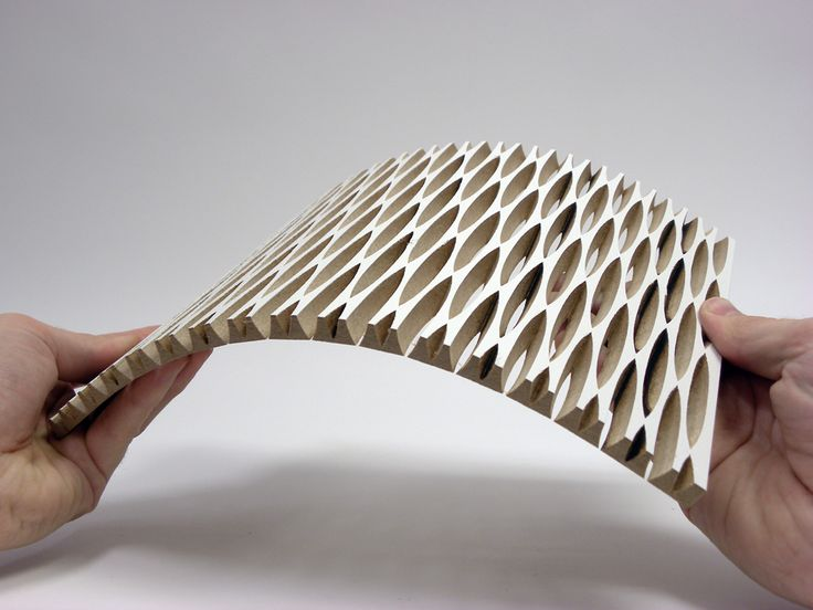 dukta folie - flexible wood and wood materials. Through the cuts, the material…