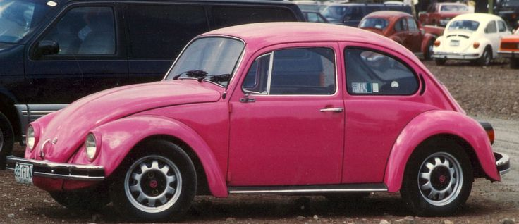Image from http://todrinkthewildair.files.wordpress.com/2010/04/pink-volkswagen1.jpg.
