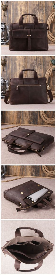 Genuine Leather Laptop Bag Men's Briefcase Leather Design For Men Leather Handbag Leather Goods