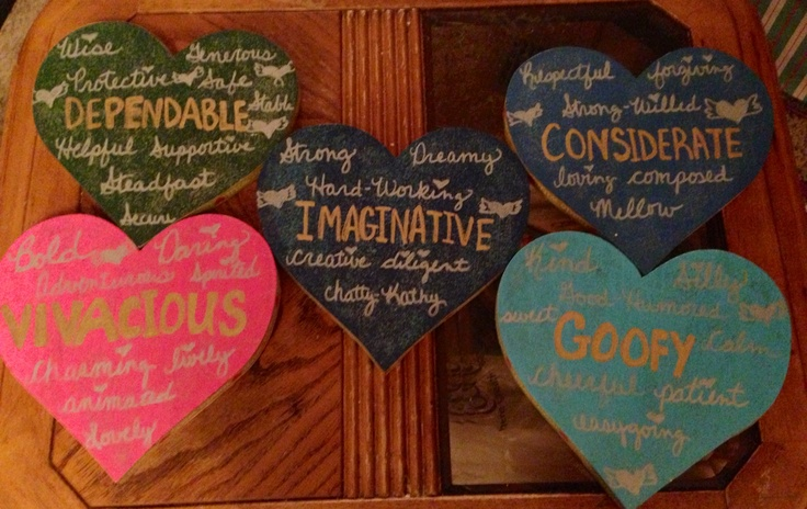 Mother's Day present for my 5 moms heart quotes DIY