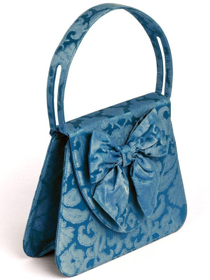 """""""L'Insolente"""" in Rubelli peacock blue silk brocade. For a refined modern seductress. So chic ..."""