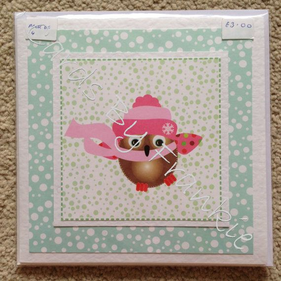 Pack of 4 Handmade Christmas Cards with Cute by CardsbyFrankie, £3.00