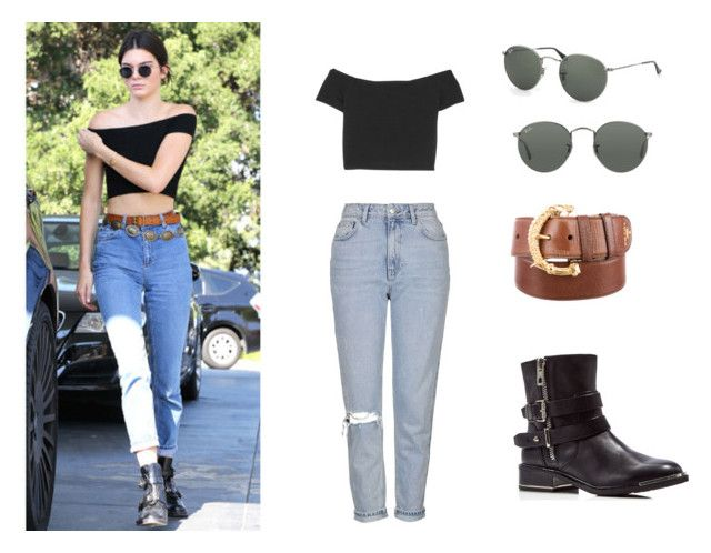 """Kendall Jenner Style"" by j-elizabeth-cha on Polyvore featuring Topshop, Alice + Olivia, Prada, Dolce Vita, Ray-Ban, vintage, look and kendalljenner"