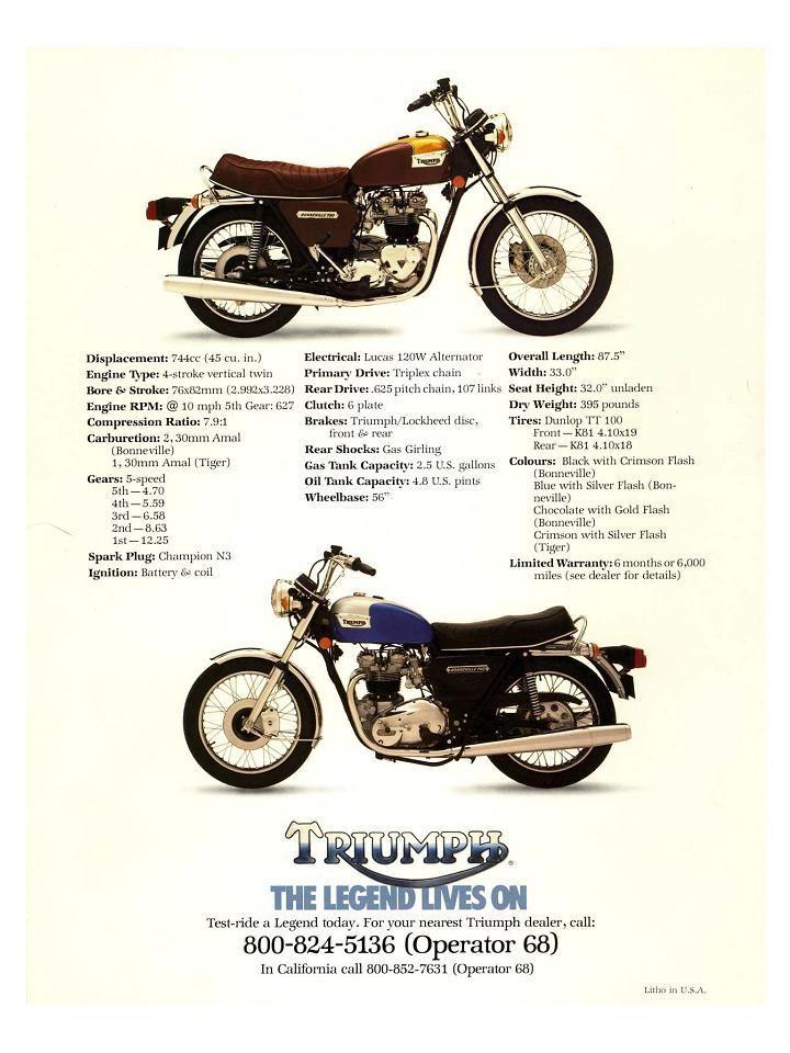 Triumph Bonneville T140 750 1978 Adevrt PT152
