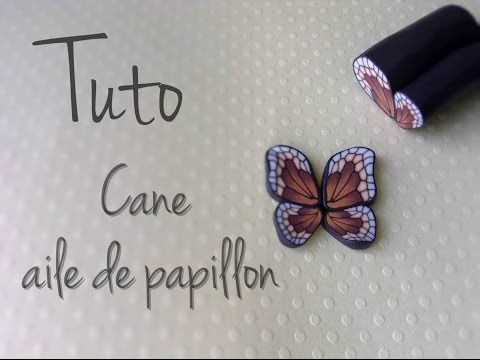 Video - butterfly cane (french)  #Polymer #Clay #Canaes