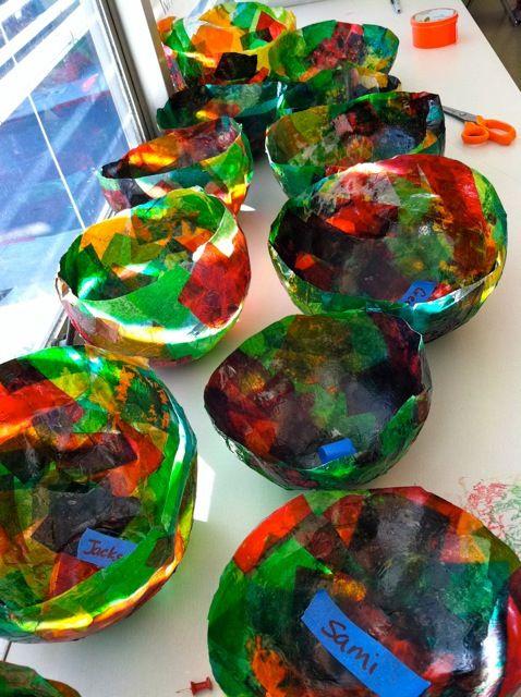 Correct link: Tissue paper ballon bowls