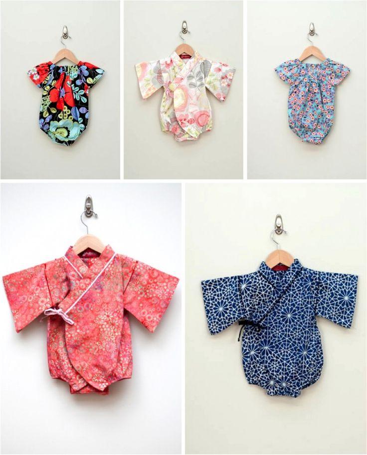 colourful baby kimonos