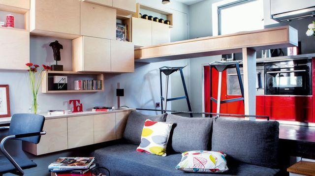 Un studio de 16 m2 efficace