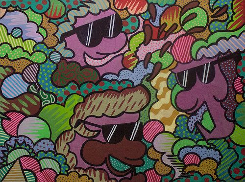 #plots #melted #eyes #color #style #molotow #acrylic #canvas #okes #party #friends #form #chile #stgo #boom