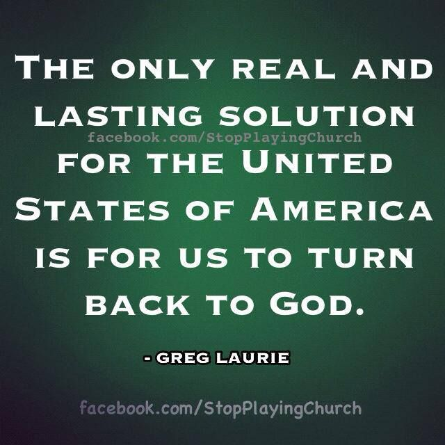 So true... Hes word says that we must pray turn from our wicked ways then shall he heal our land.Land doesn't mean the physical land but the wickedness off mans heart.