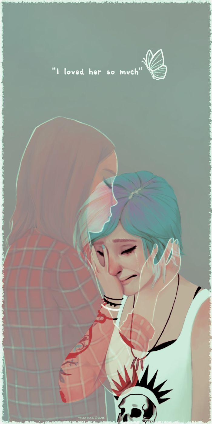 mustelka's art ~ life is strange ~ Chloe and Rachel ~ cries 5 eva