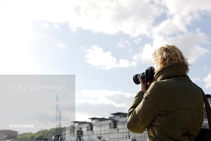 Yooniq images - Photographer in backlit, Hamburg, Germany, Europe