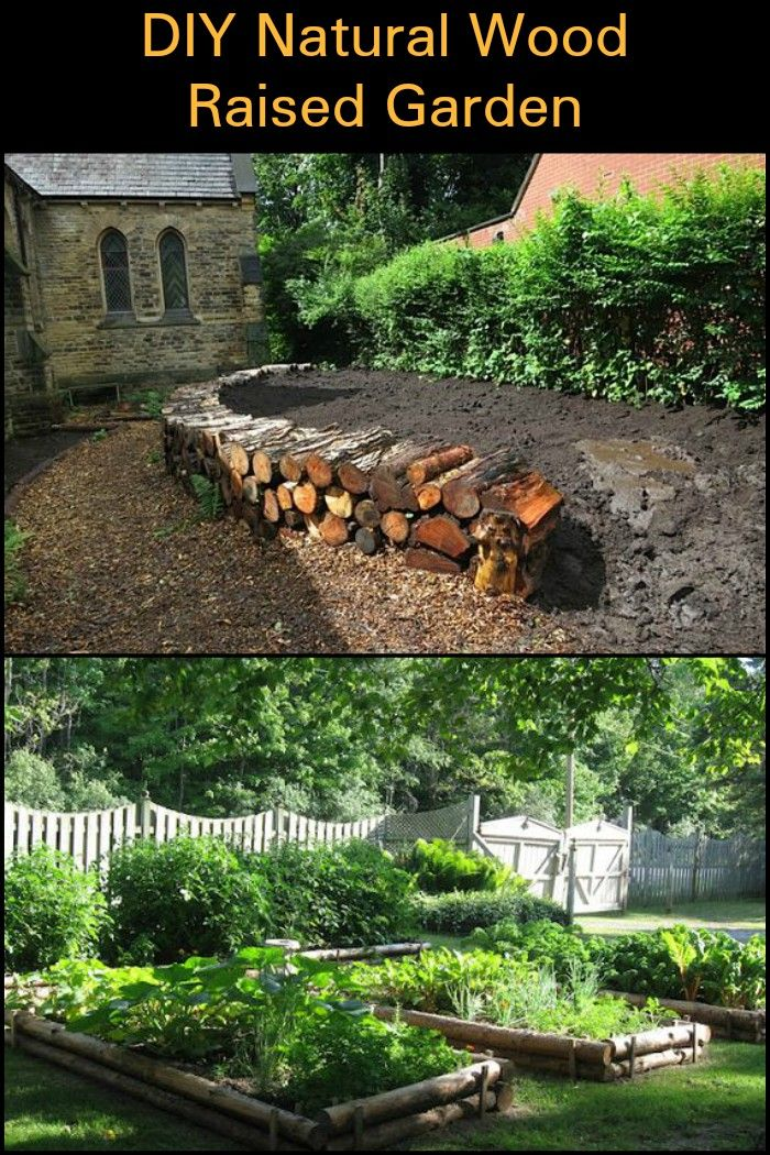 Grow Your Own Produce By Building A Natural Wood Raised Garden Bed